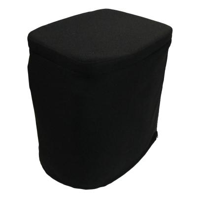 Stoffhocker schwarz für Carysan Gartentoilette Eimertoilette ohne Toilette