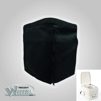 Stoffhocker schwarz für Bi-Pot 34 mit Polster und Toilette