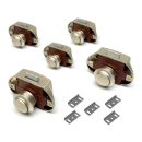 Premium Push Lock Schlösser - 5er Set - silber...