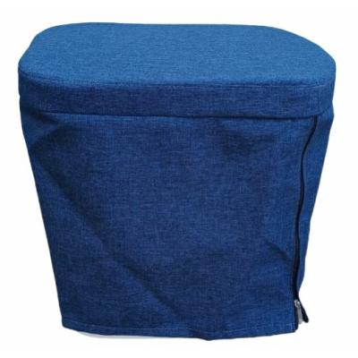 Stoffhocker blau für Thetford Porta Potti 335 mit Polster