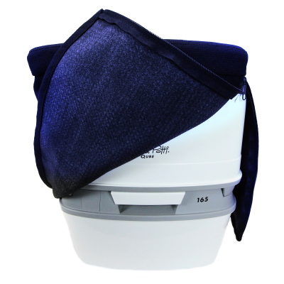 Stoffhocker blau für Thetford Porta Potti 165/365 mit Polster