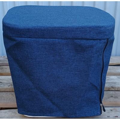 Stoffhocker blau für Thetford Porta Potti 145/345 mit Polster