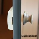 Premium Push Lock Schlösser - 7er Set - silber (vernickelt)