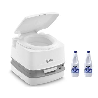 Thetford Porta Potti 335 Weiß - Toilette inkl. 2x Thetford Aqua Kem Blue 2 Liter - Set