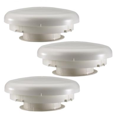 3x Dachentlüftung Pilzlüfter für eine Zwangsentlüftung für Ihren Wohnwagen