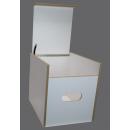 Toiletten Hocker Weiß mit Toilette Porta Potti 165 / 365 - Polster blau Stauraum Hocker