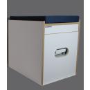 Toiletten Hocker Weiß Porta Potti 165/365 inkl. Polster blau ohne Toilette
