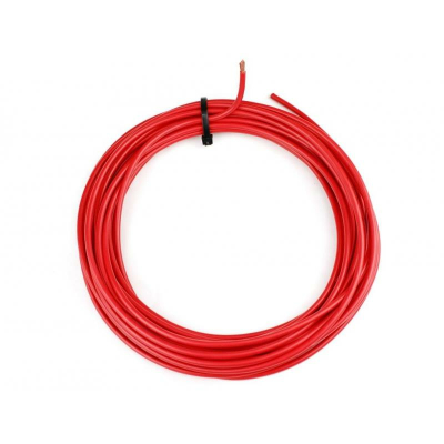 KFZ Universalkabel - H07V-K - 10mm² - Plusleitung - Rot 3 Meter