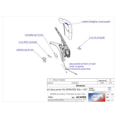 Handbremsenadapter für Mercedes SPRINTER M907 (seit 2019) ACAFMS