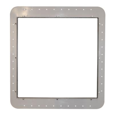 Montagerahmen für Mini Heki Dachstärke 43-60 mm - cremeweiß