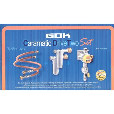 GOK Caramatic DriveTwo Set Gasdruckregler Horizontal 30 mbar + Gasfilter + Schlauch SBS