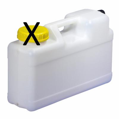 Raumsparkanister 12 Liter DIN 96 - ohne Ablasshahn - ohne Schraubverschluss