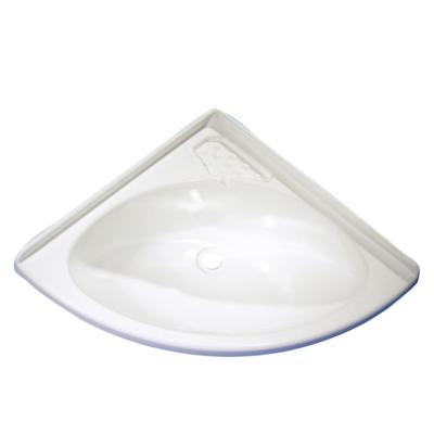 Eckwaschbecken Maxi - weiß - 420 x 420 x 170 mm