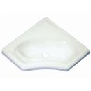 Eckwaschbecken Mini - weiß - 345 x 345 x 120 mm