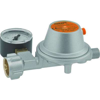 GOK Niederdruckregler mit Manometer - 50 mbar - 1,5kg/h - 0111305