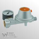 GOK Niederdruckregler mit Manometer - 50 mbar - 1,5kg/h -...