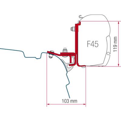 Fiamma Kit Brandrup VW T5/T6  für F45