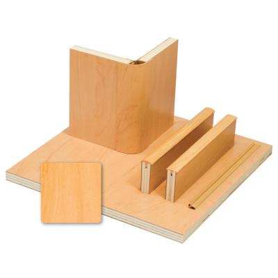 Möbelbauplatte - Pappelsperrholz mit Schichtstoff - Apfel