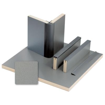 Möbelbauplatte - Pappelsperrholz mit Schichtstoff - Anthrazit-Metallic