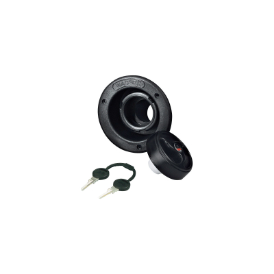 Einfüllstutzen schwarz mit Schloßdeckel