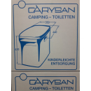 Carysan Gartentoilette Eimertoilette - lichtgrau / bordeaux